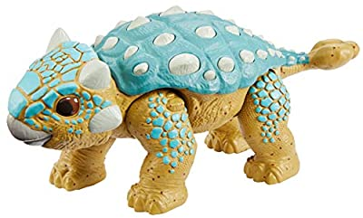 Jurassic World Camp Cretaceous Attack Pack Ankylosaurus Bumpy Dinosaur Figure with 5 Articulation Points, Realistic Sculpting & Texture; for Ages 4 Years Old & Up by Mattel