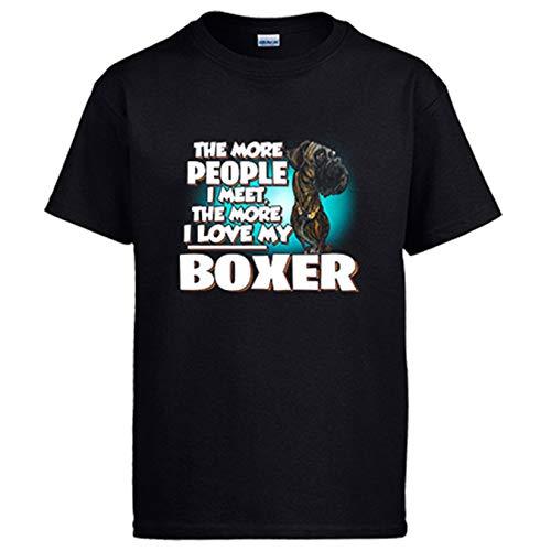 Diver Bebé Camiseta I Love my Boxer Atigrado Raza Perro - Negro, M