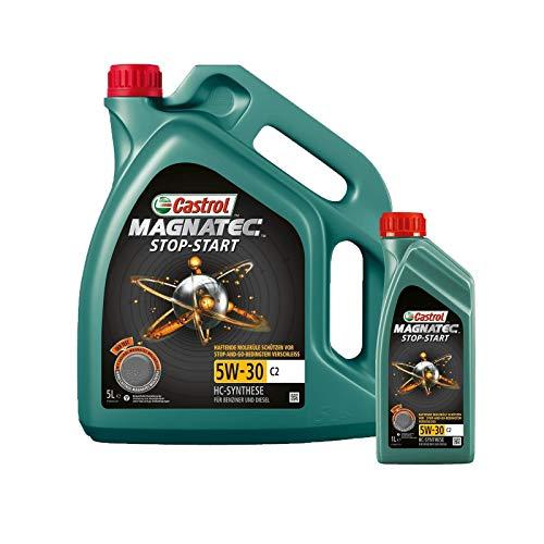 Motorenöl 5W-30 Magnatec Stop Start C2 [6 L] von Castrol (SET1599DC6L) Öl Schmierung Motorenöl