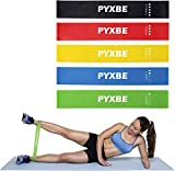 PYXBE Resistance Loop Bands/Exercise Bands/Fitness Bands, Set of 5, with Exercise Guide, eBook and Carry Bag – 5X Power Body Workout Band for Legs and Butt, Yoga, Crossfit (Silicon Band_2) home workout equipment Oct, 2020