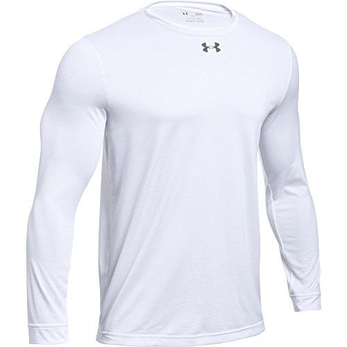 Under Armour Men's UA Locker 2.0 Long Sleeve Shirt (Small, White-Graphite)
