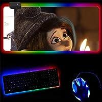 マウスパッド 14種類の照明モードを備えた漫画のマウスパッド耐久性のあるステッチエッジを備えたRgbゲーミングマウスパッド-400X900X4Mm