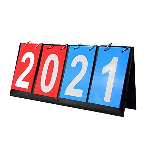 yiwoo Scoreboard Score Keeper, Volleyball Basketball Tennis Table Tennis Scoreboards(4-Digital)