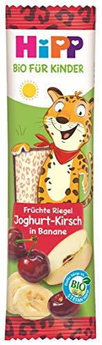 Hipp Bio-Riegel Früchte-Freund Leopard Joghurt-Kirsch in Banane, 22er Pack (22 x 23 g)