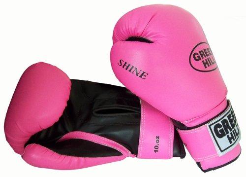 Greenhill - Guantes de boxeo para mujer y niños, 170 g, color rosa, 0,177 L