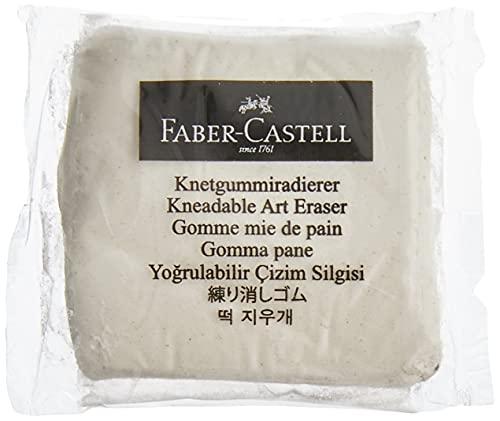 Faber Castell Knetgummi Art Eraser weiß, knetbarer Radiergummi,ideal zum korriergieren oder aufhellen, 127154