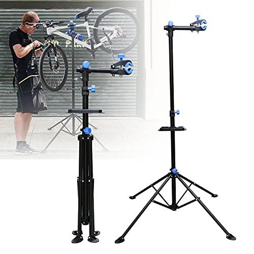Einfeben Fahrradreparaturständer für e-Bike 50kg,Höhenverstellbar Fahrrad Montageständer,Mountainbike Reparaturständer,mit Werkzeugablage und rutschfestem Fußpolster