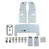 YAOFAO プリウス 30 系 LED ルームランプ 光量調節可能 プリウス/プリウスα ZVW30/ZVW40/ZVW41 サンルーフ無 車種別専用設計3チップ SMD 5050 12点セット LED取り扱い専用工具付