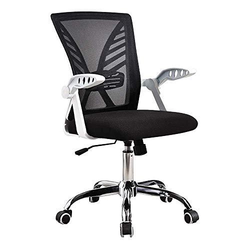 N/Z Daily Equipment Chair Offcie-Stuhl Drehbarer Armlehnen-Executive-Stuhl mit Schaukelfunktion Ergonomie Student Desk Chair Nennlastkapazität: 150 kg Schwarzer Rahmen