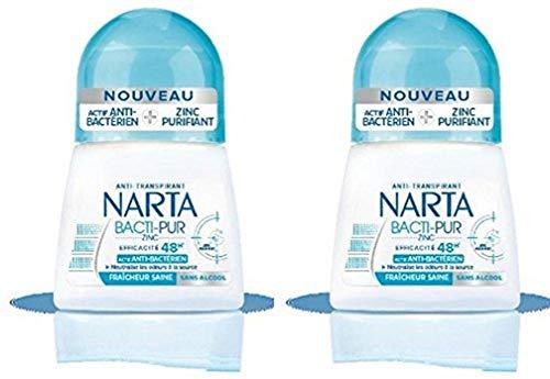 Narta desodorante antitranspirante Bille Bacti puras mujeres 48H 50ml - Conjunto de 2
