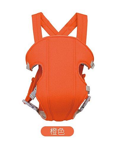 Flikool Ergonomico Fular Portabebes Respirable Mochila Portador de Bebe 3 en 1 Front Back Baby Safety Carrier Infant Comfort Backpack Sling Wrap - Naranja