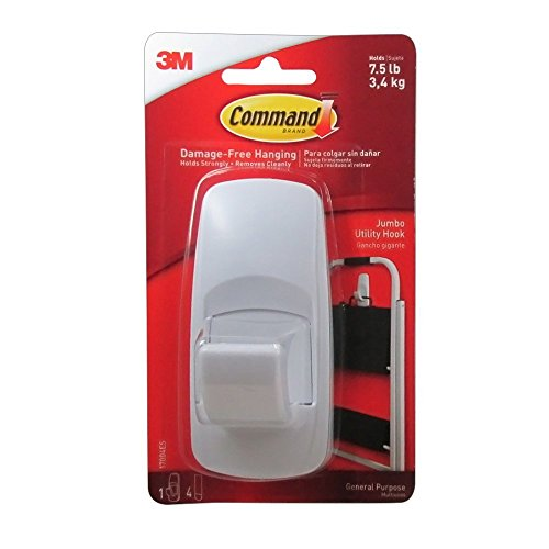 Command Jumbo Adhesive Hook (Pack of 4)