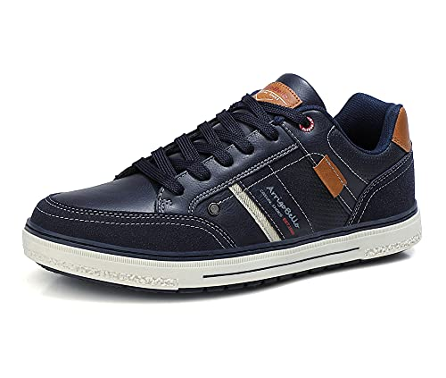 ARRIGO BELLO Zapatos Hombre Vestir Casual Zapatillas Deportivas Transpirables Sneaker Caminar Correr Cómodo Casuales Moda Negocio Talla 41-46 (Azul, Numeric_41)