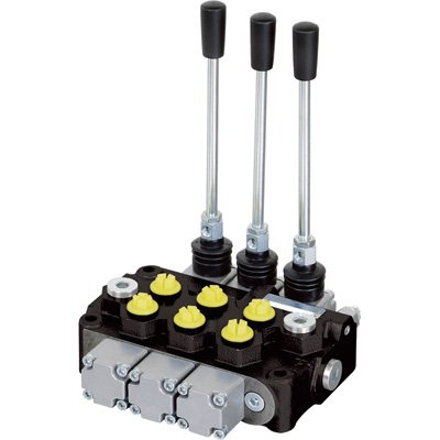 NorTrac Monoblock Hydraulic Control Valve - 12 GPM, 3 Spool by NorTrac