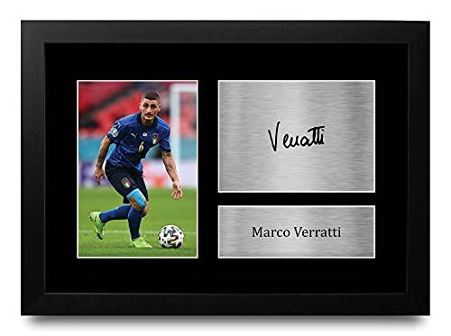 HWC Trading FR A4 Marco Verratti Italy Geschenken Afgedrukt Gesigneerde Handtekening Foto Voor Voetbalfans En…