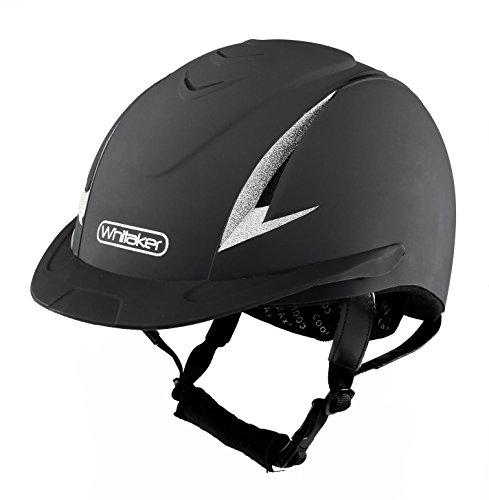 John Whitaker New Rider Generation Casco de equitación, Unisex Adulto, Negro/Plata, 57-60 cm