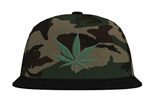TRVPPY Camouflage Snapback Cap Casquette modèle Cannabis, différentes Couleurs, b691