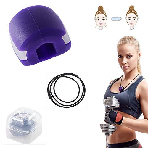 Tonifiant Facial,équipement de tonification du Cou Jawzrsize,Jawline Fitness Balle,pour dexercice Double Menton, équipement de Tonification du Cou Outil de Beauté du Visage (Violet)