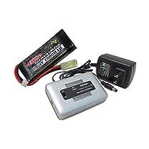 コンボ: Tenergy 1–4セルLi - Po / li-feバランス充電器7.4V 1600mAh 20C Lipoバッテリーパックfor Airsoft Gun