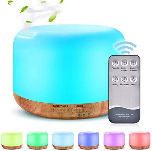 Diffusore di aromi Phiraggit, diffusore da 300 ml Aromaterapia Umidificatore Nebulizzatore ad ultrasuoni Diffusore elettrico della lampada di fragranza con 7 colori LED, casa, ufficio, yoga
