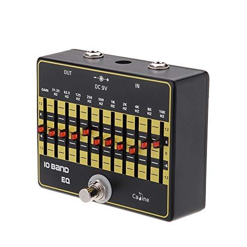 PQZATX CP-24 10-Band-EQ Equalizer True Bypass Gitarre Effektpedal mit Aluminiumlegierung