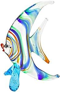 GlassOfVenice Pez de una forma de media luna de cristal de murano