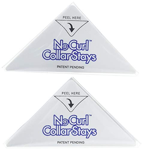 No Curl Collar Polo Shirt Collar Stays 20 Pair Refill Pack: Peel-&-Stick, Temporary