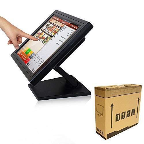 15' LCD Touchscreen Monitor Kassenmonitor für Registrierkasse Kassensystem Gastronomie Kasse mit Software Programminstallationspaket