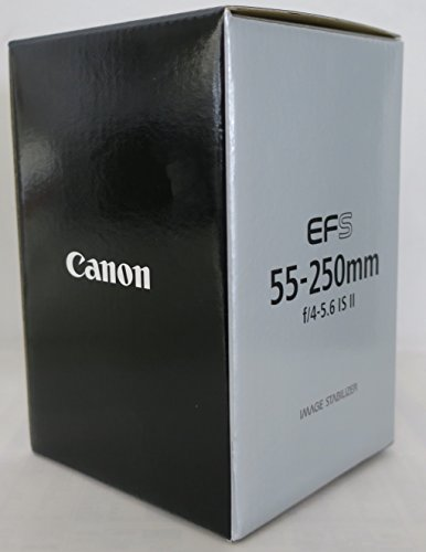 Canon EF-S 55-250mm f/4-5.6 IS II Teleobiettivo con Zoom, colore: Nero