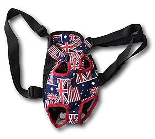Ducomi Denim & Canvas Front-Rucksack für Hunde und Welpen - Transporttasche für Haustiere, mehrfarbig