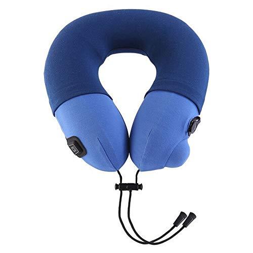 Almohada de masaje cervical recargable en forma de U, masajeador de cuello, vibración de cuello, masajeador eléctrico multifuncional para hombros y cuello para relajar los músculos y la fatiga