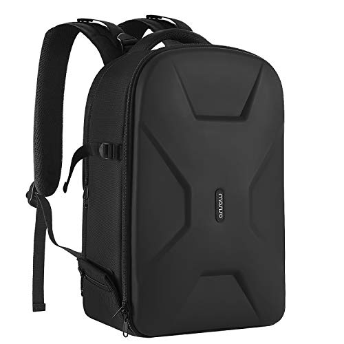 MOSISO Camera Backpack,DSLR/SLR/Mirrorless Photography Camera Bag 15-16 Inch Waterproof Hardshell Case with Tripod Holder&Laptop Compartment Compatible with Canon/Nikon/Sony/DJI Mavic Drone, Black