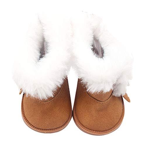 Zolimx Winter Glitter Doll Schuhe für 18 Zoll American Doll Zubehör Mädchen Spielzeug