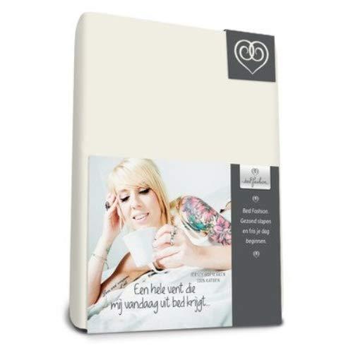Bed-Fashion sábana Bajera, Jersey, Color Blanco, único, 90x 220cm