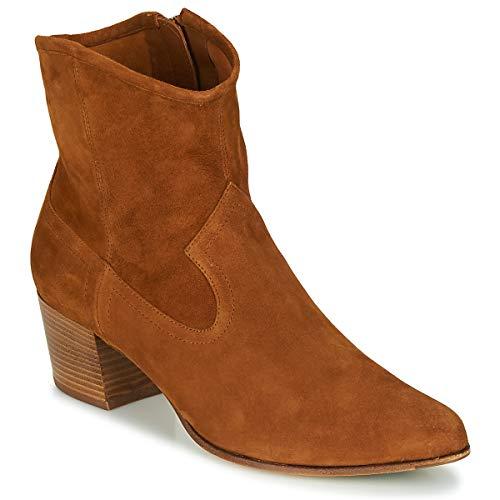 UNISA GALVEZ Enkellaarzen/Low boots dames Camel Enkellaarzen