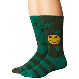 Stance Men's Outlook Graphic Pattern Arch Support Classic Crew Sock
