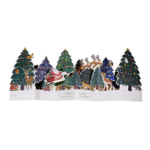 グリーティングライフ クリスマスカード サンタ ポップアップ フォレスト ET-136