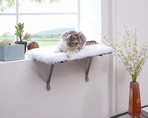 sweetgo Katzen-Fenstersitz, montiertes Regal für Katze, lustiger Schlaf, DIY Kitty Sill Fenstersitz, waschbarer Schaumstoff-Katzensitz