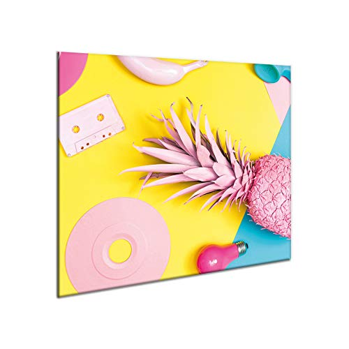 SemUp - Panneau de protection en céramique pour plaque à induction électrique - 60 x 52 cm - Grande planche à découper - Verre trempé - Grande planche à découper - Découpe murale de cuisine