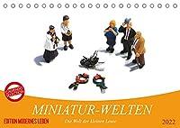 MINIATUR-WELTEN (Tischkalender 2022 DIN A5 quer): Phantasievolle Bilder von kleinen Leuten in der Welt der Grossen (Monatskalender, 14 Seiten )