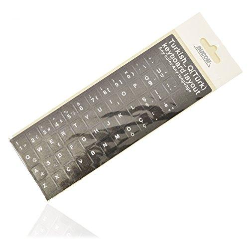TÜRKISCHE Tastatur Aufkleber Layout Keyboard Key Stick für Notebook Laptop türkce klavye