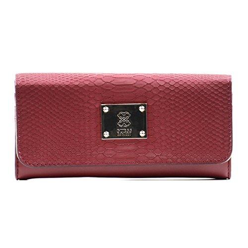 Guess - portemonnee ANGELA Larage Flap Organizer claret, SWVG5068530