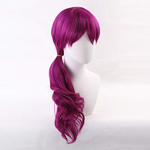 20' Women's Rose Purple Curly Cosplay Wig Game Wig