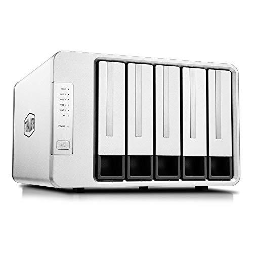 TerraMaster F5-422 10GbE NAS 5-Bay Netzwerkspeicher-Server Intel Quad-Core-CPU mit Hardware-Verschlüsselung (Ohne Festplatte)