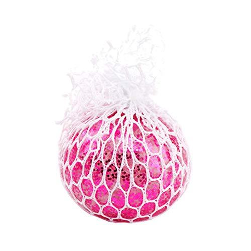 Sfere antistress giocattolo per bambini adulti DNA Squeeze Balls Giocattoli arcobaleno luminescente scolorito silicone trasparente Stress Ball Sensory Squeeze Balls (oro paillettes -F, 6 cm)