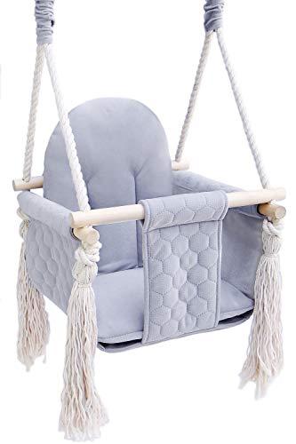 Baby Schaukel outdoor indoor - Kinderschaukel Babyschaukel für Türrahmen Kinderschaukelsitz (Grau, schaukel)
