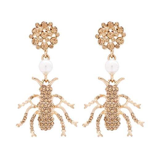 FEARRIN Pendientes de Moda exquisitos Pendientes Colgantes de Perlas para Mujeres Bonitas Flores Cactus Arco geoemtrico Precioso Animal Pendientes Colgantes joyería 13692