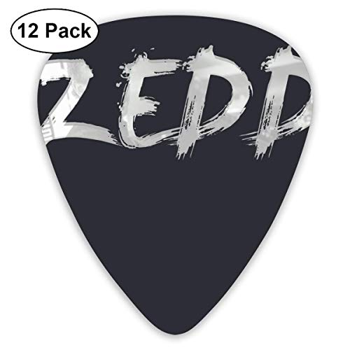 Fashion Zedd Logo Plektren (12er Pack) Für E-Gitarre, Akustikgitarre, Mandoline und Gitarrenbass
