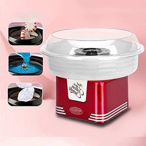 TINE Maker Cotton Candy Floss Retro Machine Cotton Candy Machine, pour Fille Garçon Marshmallow Cadeau Journée des Enfants Machine