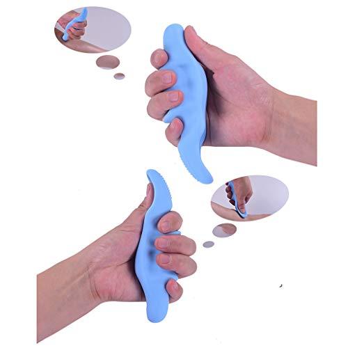 Fine Deep Tissue Massage Saver Massager,Thumb Protector Cool Tool,Finger Grip Strengthener Hand Strength Trainer (Blue)